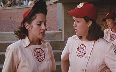 A league of its own rosie o'donnell After working with VH1, Rosie was cast as Doris Murphy alongside Tom Hanks, Madonna, and Geena Davis in the film A League of Their Own. Rosie O'Donnell was recognized and nominated for Best Breakthrough Performance during A League of Their Own during the 1993 MTV Movie Awards.