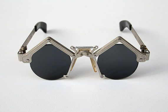 round sunglasses in silver metal Goth Steampunk style unusual unique on Etsy, $381.97 CAD