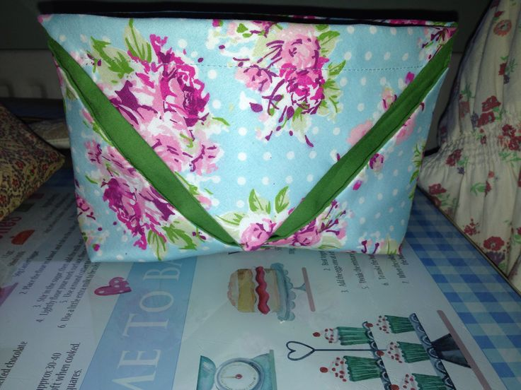 Make up bag made by me for an art swap x