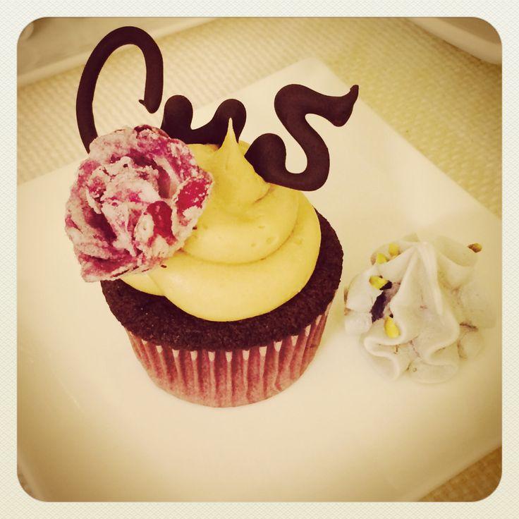 Chocolate & Peanut Butter birthday cupcake