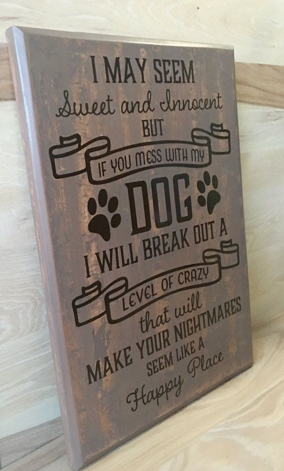 Gift for pet lover custom wood sign dog sign by CraftingWithMyChis