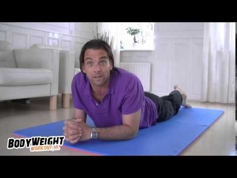 Plank oefening voor Beginners -- Half Plank en Regular Plank