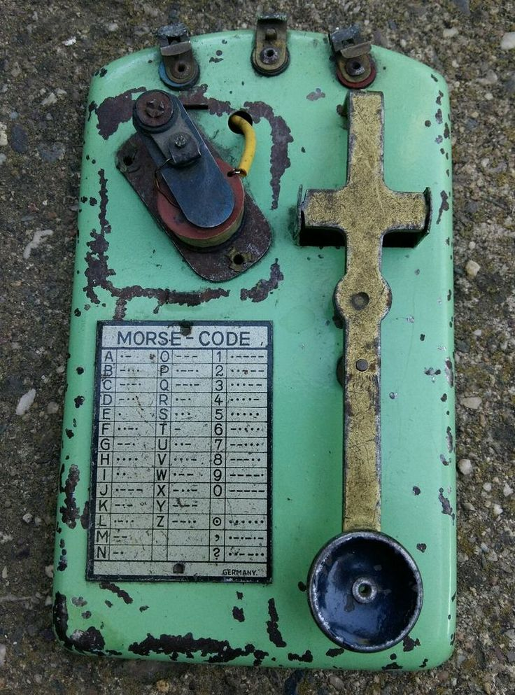Scarce WWI ORIGINAL Made in Germany GERMAN MORSE CODE KEY