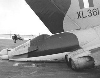 Vulcan Bomber on its rear