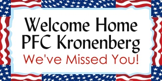 FREE military welcome home banners