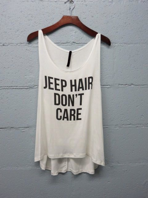 Jeep Hair Don't Care Graphic Tank Top by BohoSheShack on Etsy