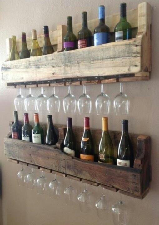 Homemade wine racks inspiring ideas pinterest for Easy homemade wine rack
