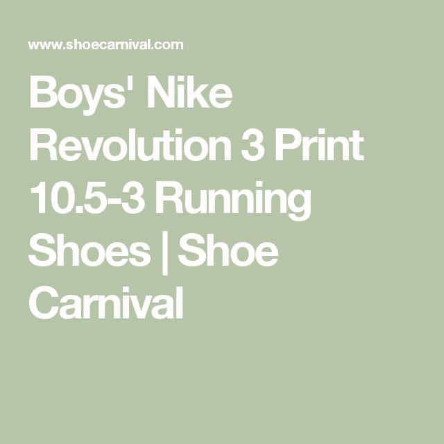 Boys' Nike Revolution 3 Print 10.5-3 Running Shoes | Shoe Carnival