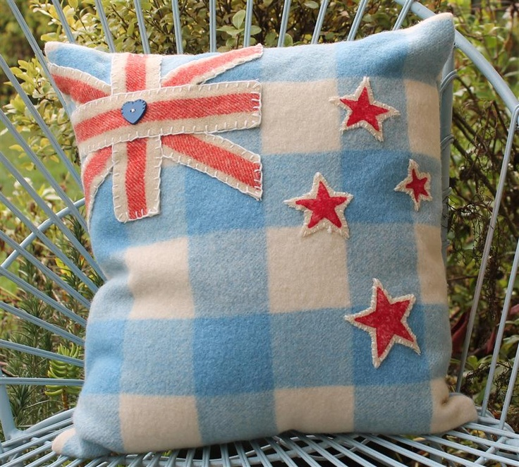 New Zealand Flag - Vintage Blanket Cushion