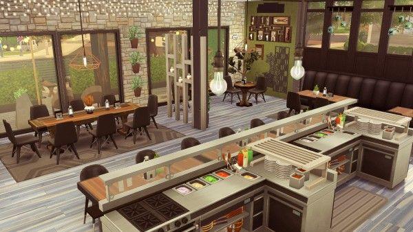 Jenba Sims Solcaf Cafe Dom Simsov Dizajn Doma Sims
