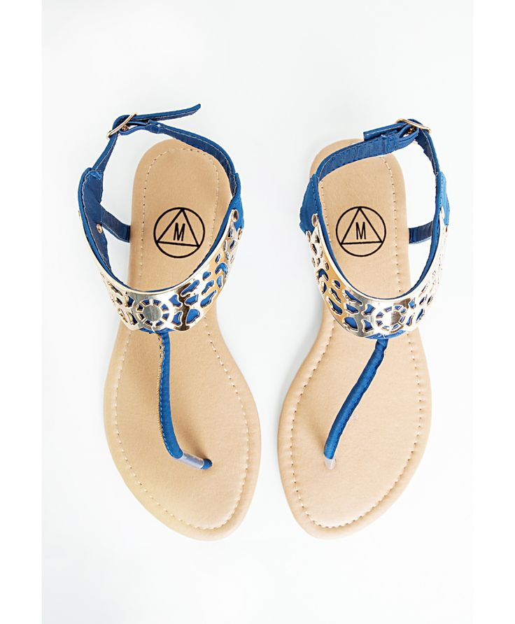 Tongs-bijoux bleues - Chaussures - Sandales - Missguided