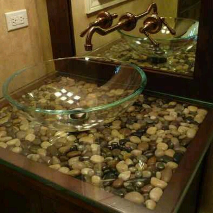 river rocks in bathroom sink river rock vanity master bathroom river 24067
