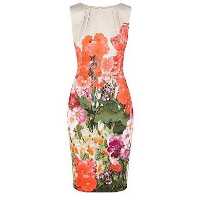 Women's Floral Prints High Quality Elegant Dress