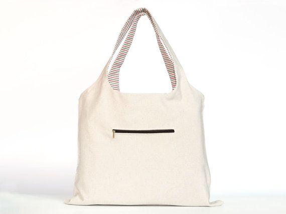 borsa tela reversibiledouble-face bagcanvas di LOOMAHANDMADE