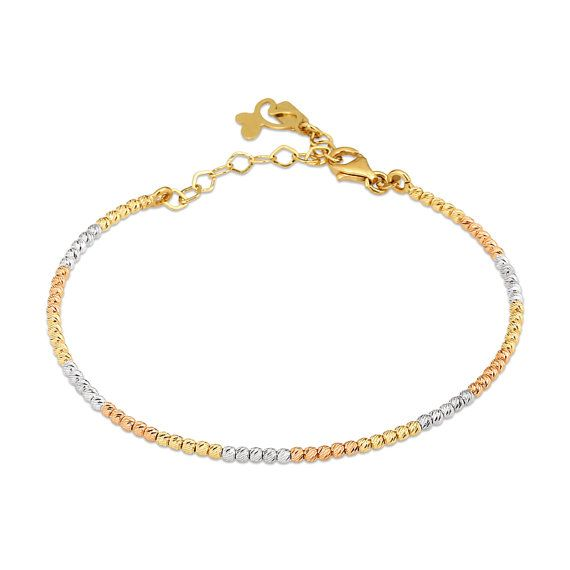 6e711f1818135a Italian Gold Balls 14k Solid Gold Bracelet Different Colors Available Rose Gold  Yellow Gold White Go