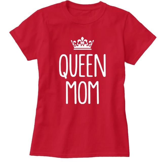 2017 Womens T-Shirt Queen Mom Funny Harajuku Product Clothes for Women Alien Vintage T Shirt Femme Tops