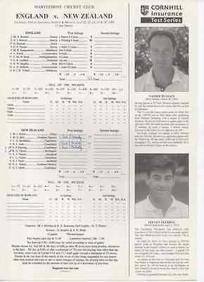 1999-england v new #zealand-@lords-2nd test match #cricket score#card-score #card-,  View more on the LINK: http://www.zeppy.io/product/gb/2/201720273689/