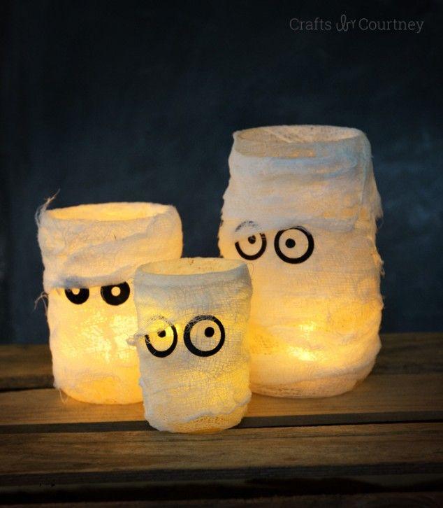 Halloween Craft Mummy Luminaries