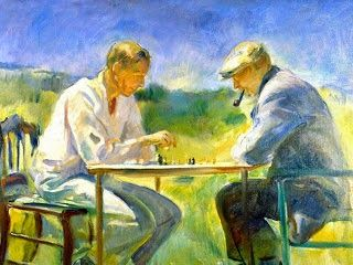 "El Museo de Alberto: ""The chess game"" 1930"