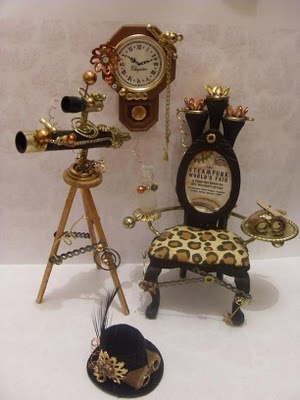 Lindas Miniature Musings: New stock for Sprocketts Steampunk Emporium :D