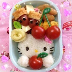 """Easy and lovely * Hello Kitty"" - japanese recipe/簡単で可愛い☆ハローキティ/お弁当"