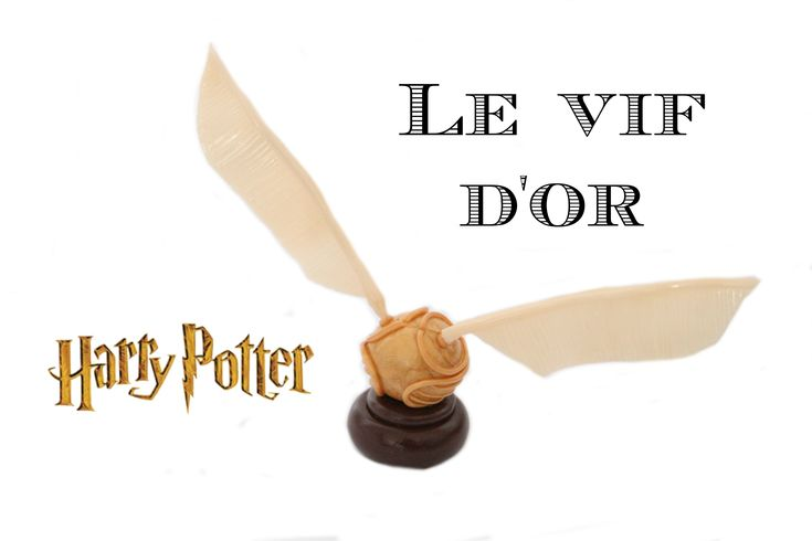 (TUTO) Vif d'or de Harry Potter en fimo / Golden snitch polymer clay