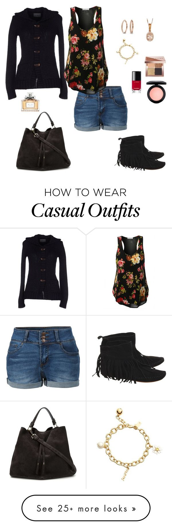 """casual chic"" by karen-powell on Polyvore featuring LE3NO, Sarah Jackson, One Teaspoon, Kate Spade, MAC Cosmetics, Bling Jewelry, Maison Margiela, Christian Dior, Chanel and Bobbi Brown Cosmetics"
