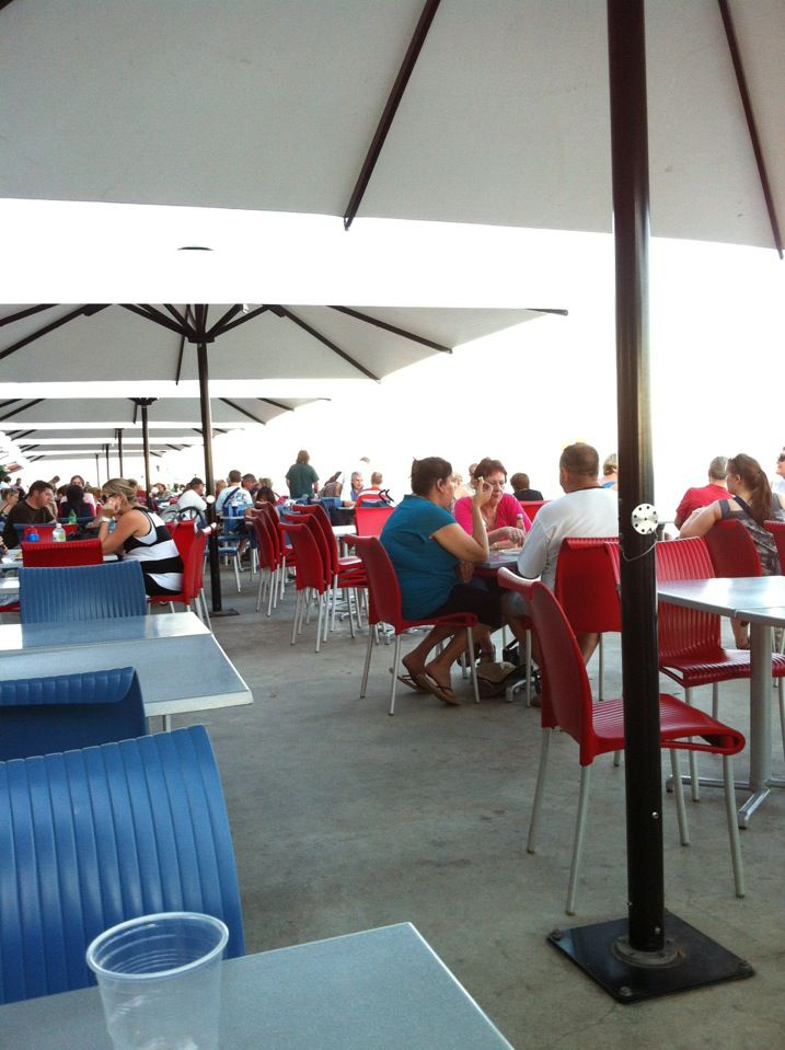Stoke's Hill Wharf in Darwin NT Casual outdoor dining; reasonable prices.