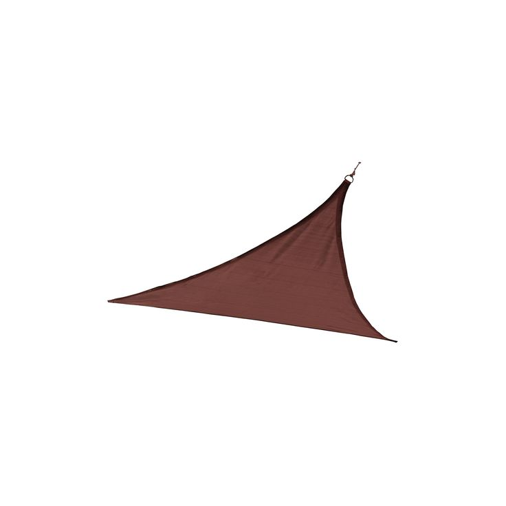 Shelter Logic Triangle Sun Shade Sail Terracotta 12' 200 gsm, Red