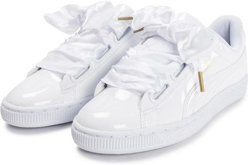 basket puma femme heart patent blanche