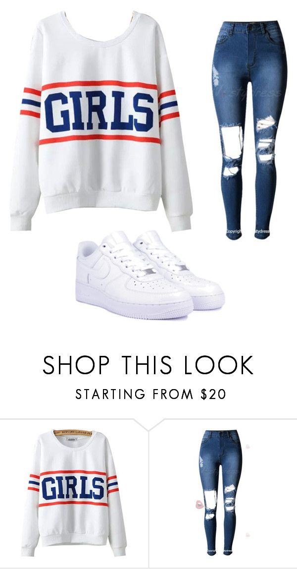 """""""Untitled #47"""" by hollywoodniya on Polyvore featuring Chicnova Fashion and NIKE"""