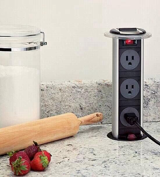 what a great kitchen outlet idea for the counter! #cbrr #