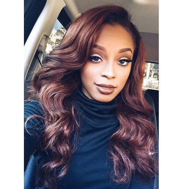#haircolor Shop our flagship line of Brazilian Body Wave Virgin Hair extensions. This luxurious texture is soft to the touch and low maintenance, making it easy to style. This texture blend seamlessly with most