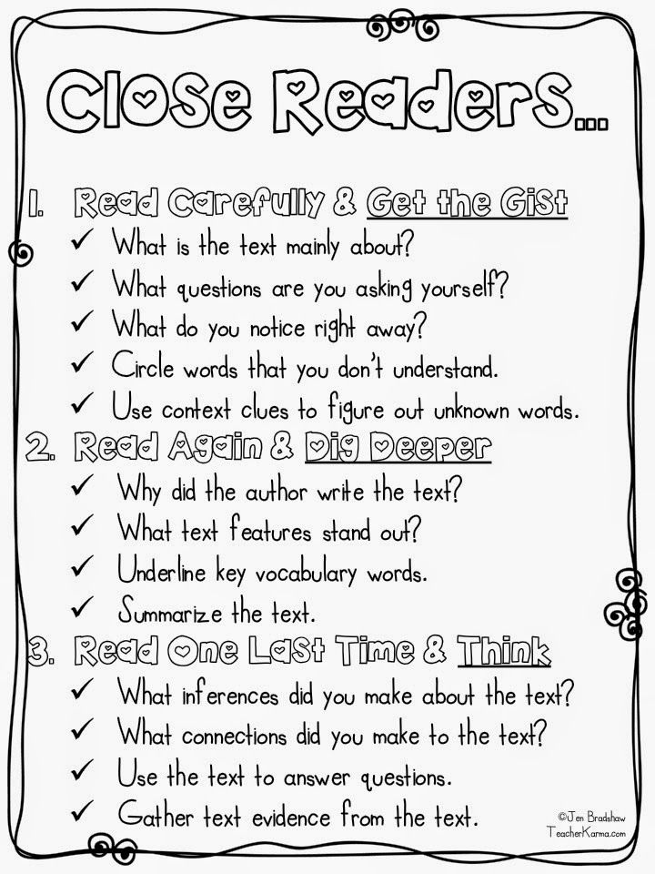 Grade 4 reading strategies worksheets