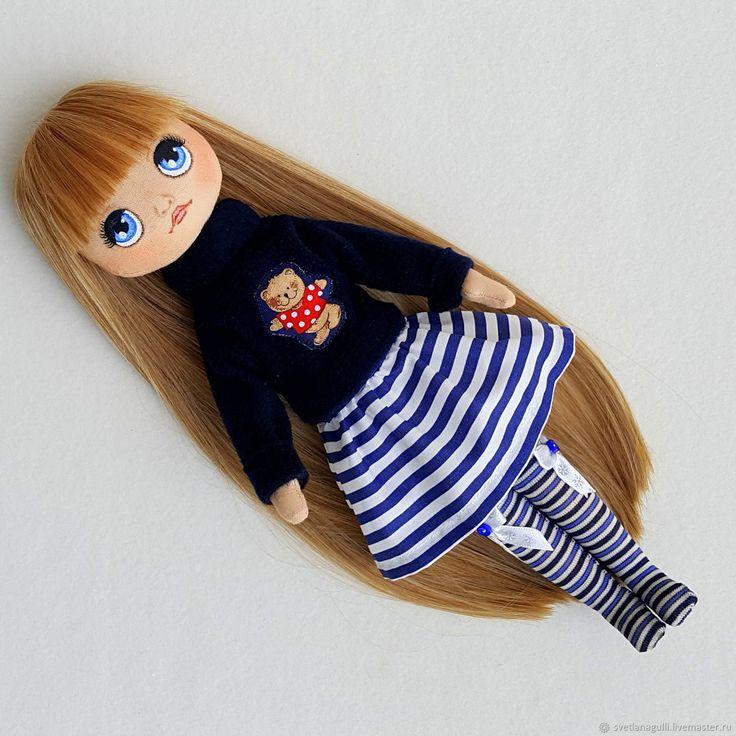 Fabric doll with handpainting | Купить Кукла текстильная. Кукла со сменной одеждой. Кукла игровая (5) в интернет магазине на Ярмарке Мастеров