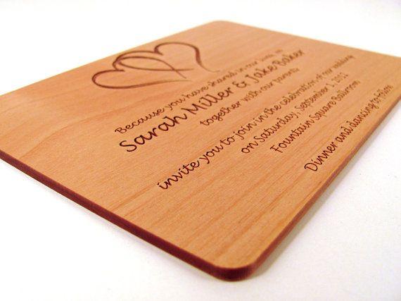 1000 Ideas About Wedding Invitation Keepsake On Pinterest: 1000+ Ideas About Wood Invitation On Pinterest