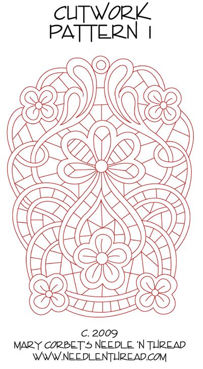 Free Cutwork Design for Hand Embroidery