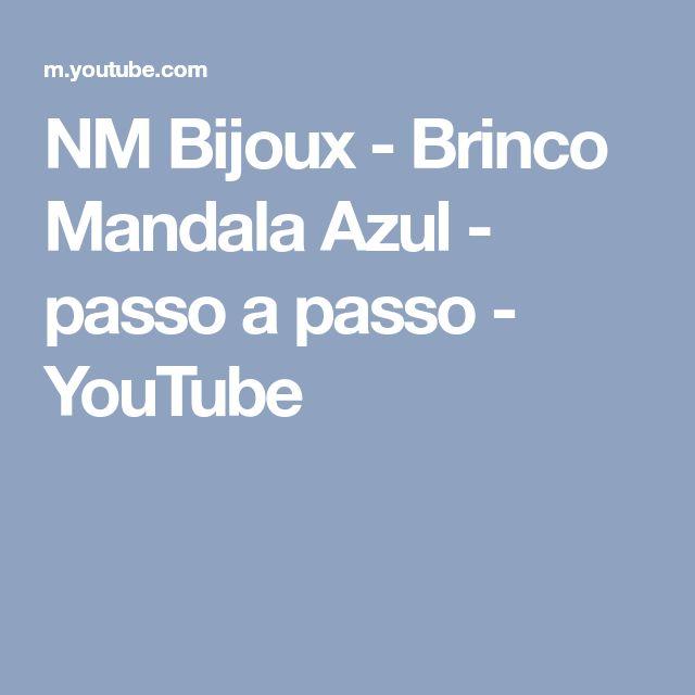 NM Bijoux - Brinco Mandala Azul - passo a passo - YouTube
