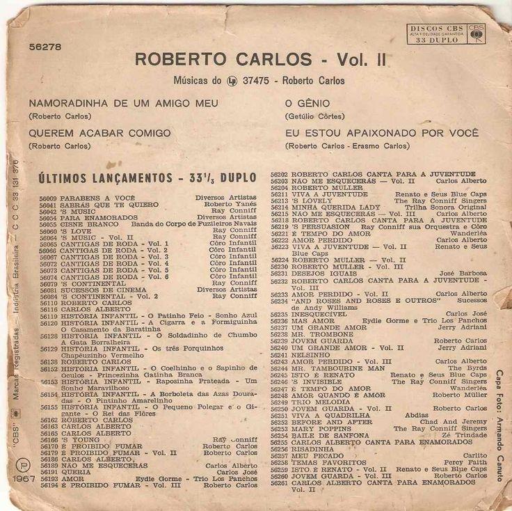 Compacto Roberto Carlos Vol Ii - Namoradinha De Um Amigo Meu - R$ 20,00 no MercadoLivre