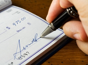 For my couples annual salary, I chose to post a picture of a cheque being signed indicating their payment. The husbands annual salary comes to $62,625, and the wifes annual maternity leave salary comes to $22, 225 (60% of earning salary)