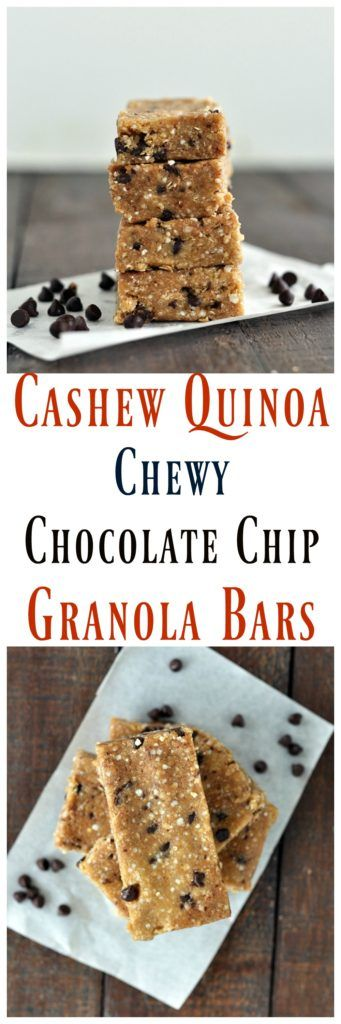 These Cashew Quinoa Granola Bars whip up in minutes. The best chewy no bake bar. EVER. Vegan, gluten free and grain free too!
