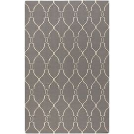 Create a beautiful focal point in your foyer, living room, or master suite with this eye-catching rug.  Product: RugConstruction Material: 100% WoolColor: Gray and ivoryFeatures:  FlatweaveMade in IndiaHand-woven Note: Please be aware that actual colors may vary from those shown on your screen. Accent rugs may also not show the entire pattern that the corresponding area rugs have.Cleaning and Care: Blot stains