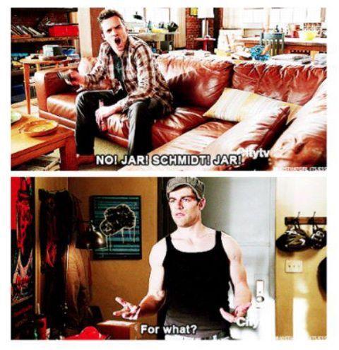 I just love Schmidt and Nick! Douchebag Jar!!!
