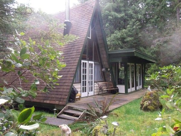 Little A frame Cabins on the Sunshine Coast of BC Photo