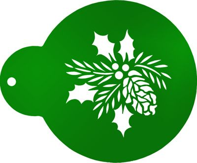 Forever Green Ornament Cookie Stencils