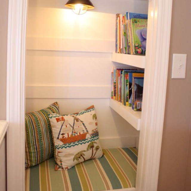 Basement Closet Turned Into A Reading Area New House Pinterest Basement Closet Nook And