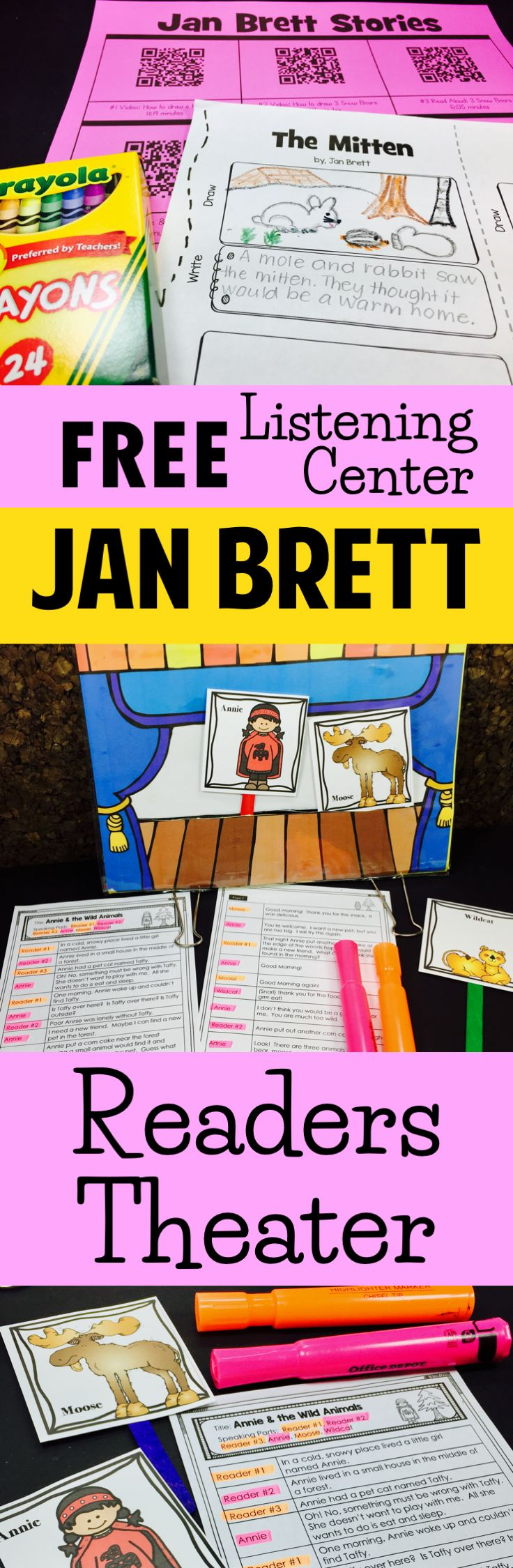 JAN BRETT: Free Listening Center plus check out the Readers Theater scripts and ways you can use them with your class.  paid