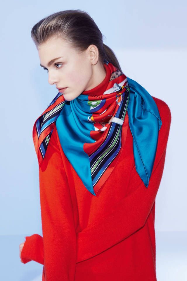 Cashmere Silk Scarf - Wear the Red Cashmere Sil by VIDA VIDA KmE6L5Xzne