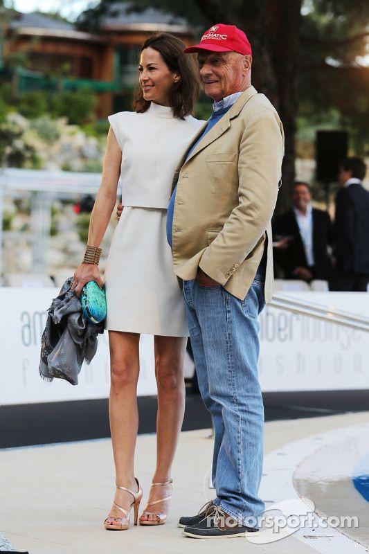 Niki Lauda With His Wife Birgit Wetzinger (Monaco 2015