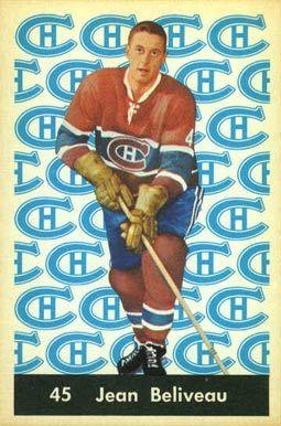 jean beliveau hockey cards   1961 Parkhurst Jean Beliveau #45 Hockey Card